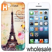 Eiffel Tower Pattern Postcard Smooth Back Hard Case for iPhone 5C