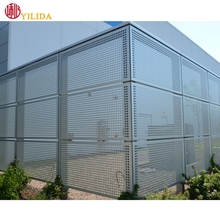 perforated metal mesh building facades construction materials