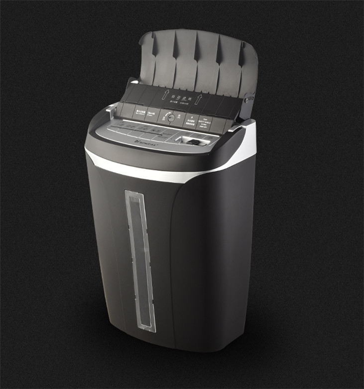 New ARRIVAL CLASSIC OFFICE BLACK 21L AUTO FEED ABS SECRECY ELECTRIC PAPER SHREDDER MACHINE
