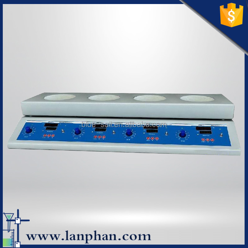 CE Certification Digital Magnetic Stirrer with 3 Hot Plate /Hotplate / Heating Magnetic Stirrer