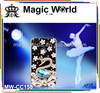 Hot sell dream swan glitter jeweled cell phone case for samsung galaxy note 3