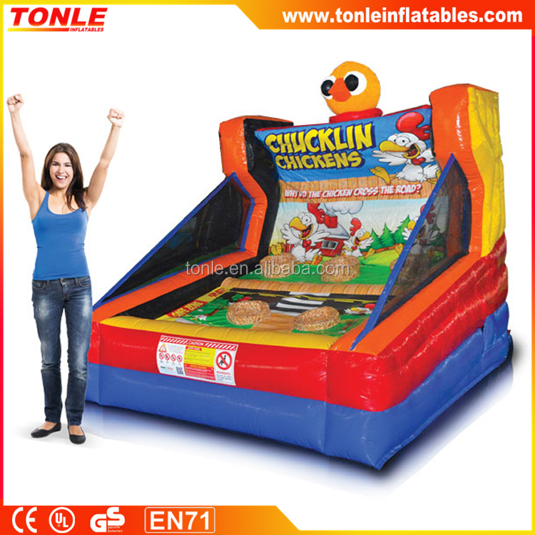 most interesting inflatable Chucklin Chicken games for sale, inflatable funny Carnival game