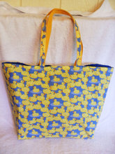 Fancy Cute Yellow Shopping Bag Small Tote Gift Bag