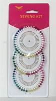 Colorful flat head sewing Needles pins