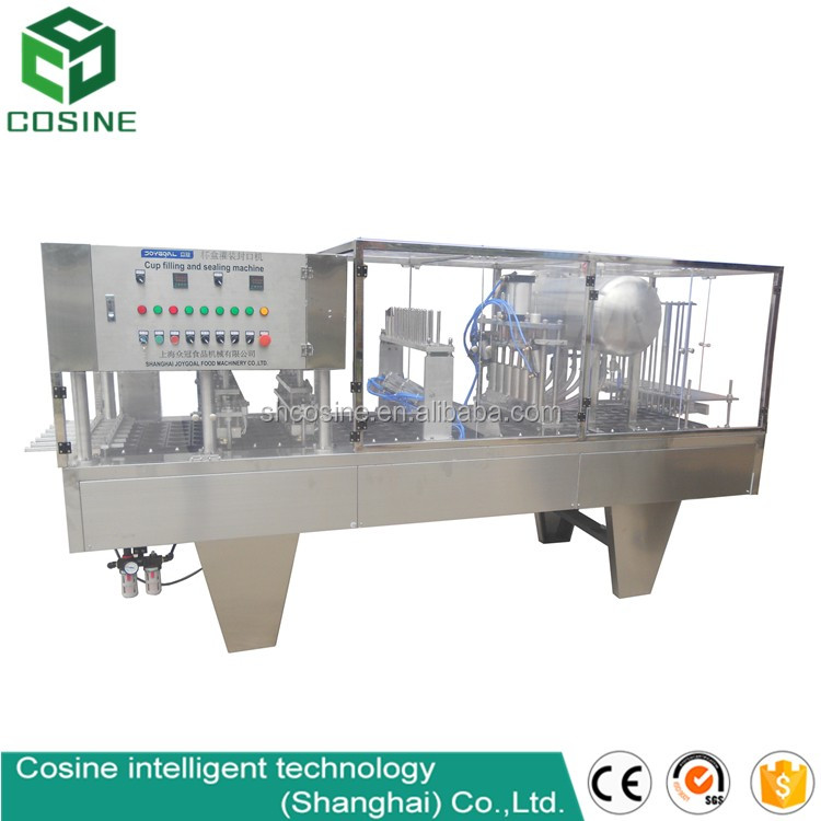 Semi automatic film heat plastic cup sealing machine