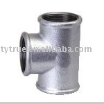 DIN10242 Malleable Iron Pipe Fittings Tee Galvanized