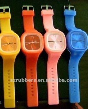 Colorful jelly silicone watch strap