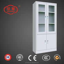Modern Office Hospital School Necessary Waterproof Fireproof Steel 2 Glass Door Filing Cabinet