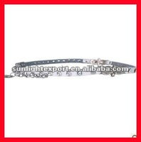 shiny siliver metal chain belt