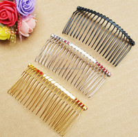 wholesale handmade 20 teeth twisted hair comb in different colors