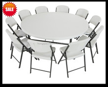 71inch plastic folding round table/camping garden dining folding round table/strong big cocktail snack buffet plastic table HDPE