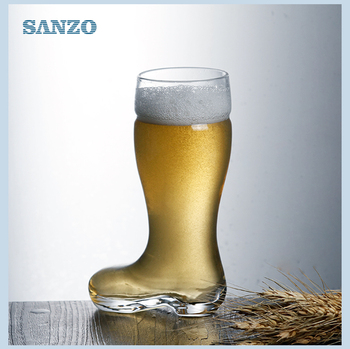 manufacturer boot-shaped cup 0.5L-1L high quality footed shoe beer glass