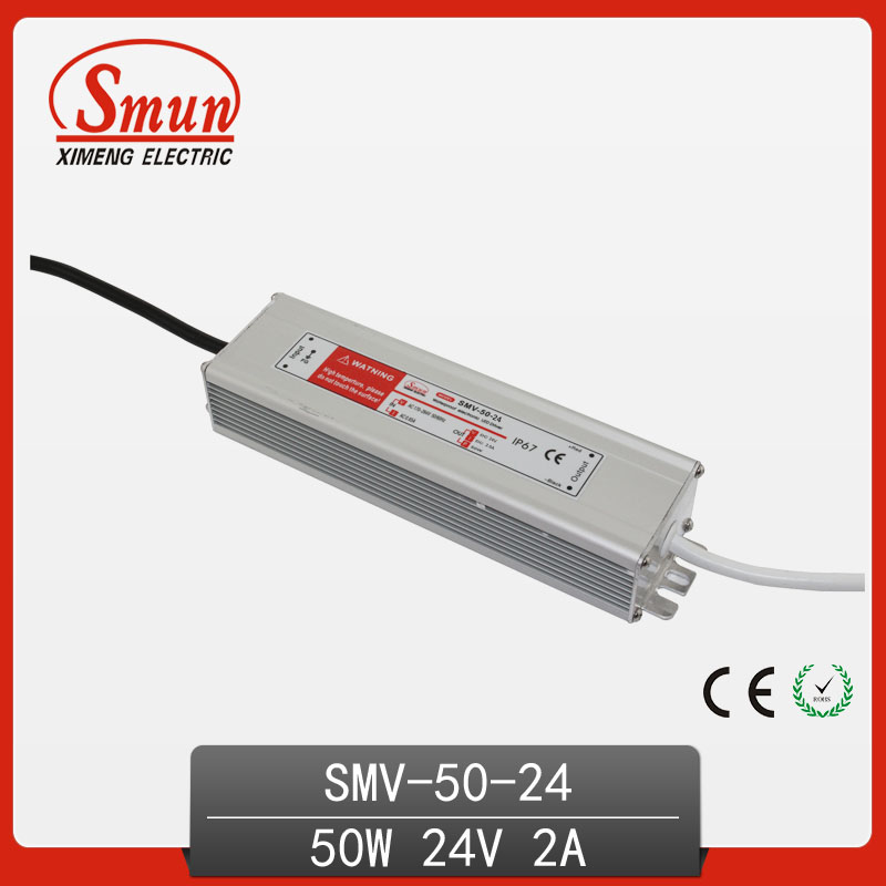 50W Power Supply SMPS 24V 2A Waterproof LED Driver