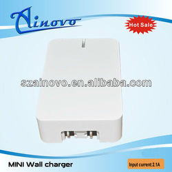 Newest arrival dual usb ac power travel dual usb wall charger for mobile phone,e-cigarette wall charger