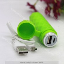 Portable power bank charger case cover made of silicone materia