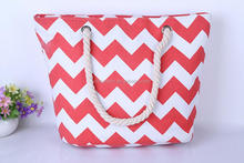 Fashion Canvas Chevron Tote Bag Wholesale