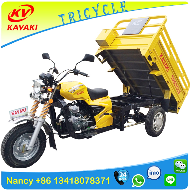 china kavaki tricycle factory air-cooled petrol three wheel cargo motorcycle