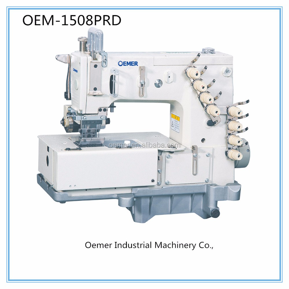 OEM-1508PRD cheap 4 needle sewing machine for waistband with independ low puller