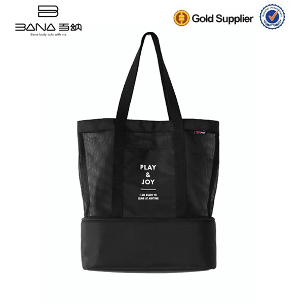 Hot Style Large Cool Carry Black Mess Tote Cooler Bag