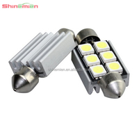No polarity 36MM Car Dome LED lights canbus no error 5050 6smd c5w festoon led
