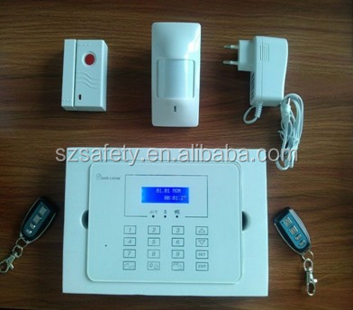 Touch keypad intelligent gsm sms wireless home security alarm system 868mhz with LCD and user manual