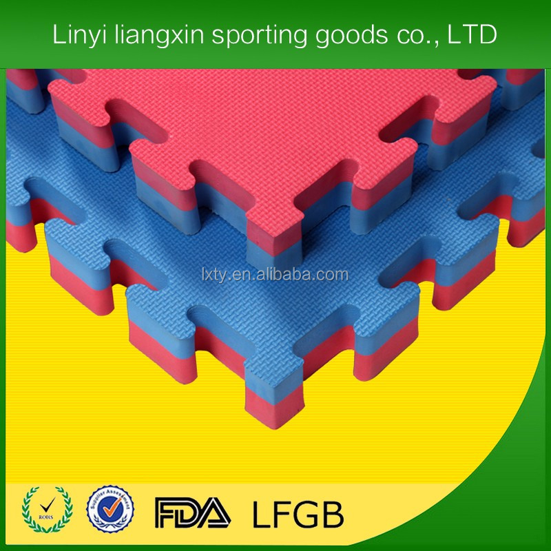 factory price eva foam interlocking martial arts tatami used judo karate 4cm thickness EVA taekwondo mat
