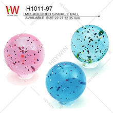 22/27/32/35mm MIX COLORED SPARKLE BALL jumping ball promotional items cheap toys Christmas gift souvenir (H1011-91)