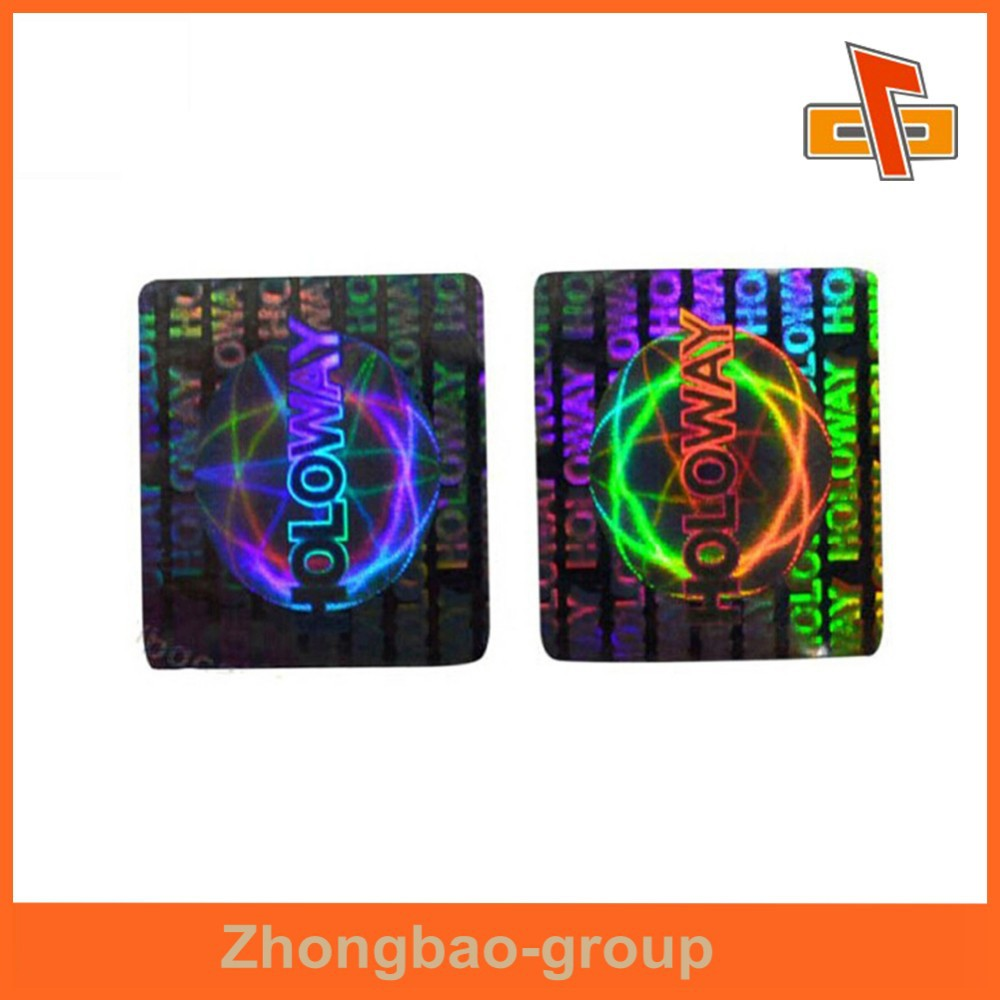 Guangzhou vendor wholesale water proof hologram sticker custom self adhesive anti fake label