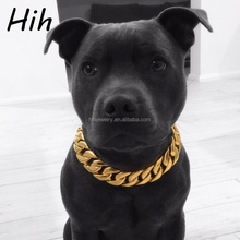 Custom Durable Gold Plating Stainless Steel Pet Dog Collar Choke Chains