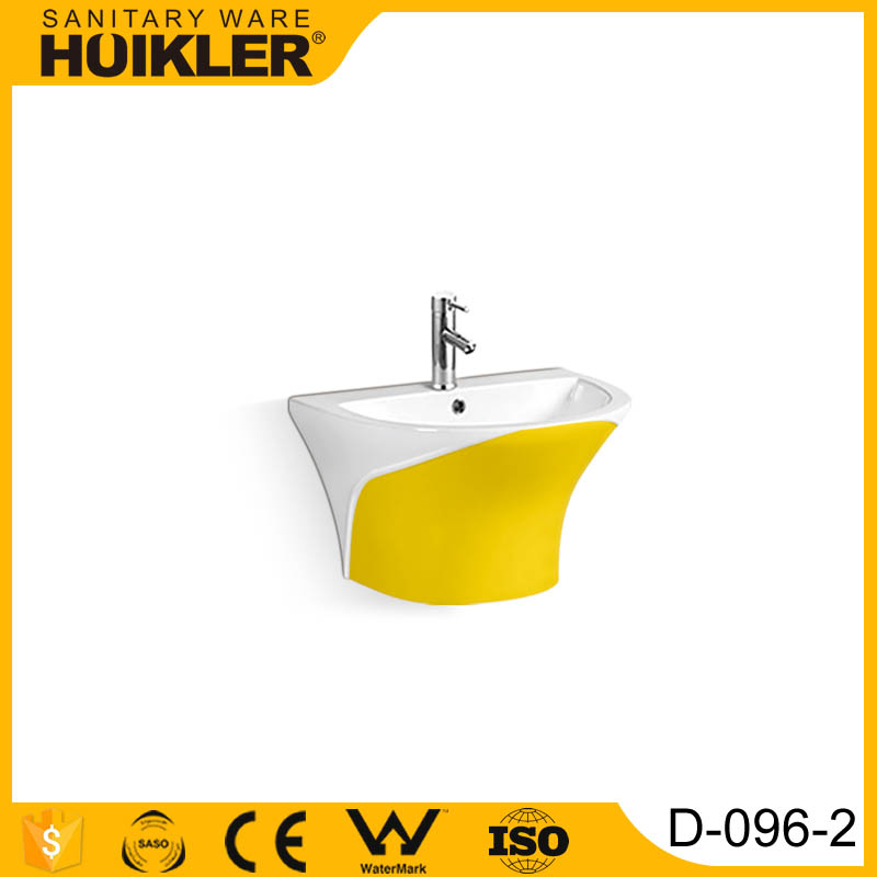 D-096-2 Modern Bathroom Design, Quality Wall Hung Pedestal Basin, Bathroom Ceramic Hand Wash