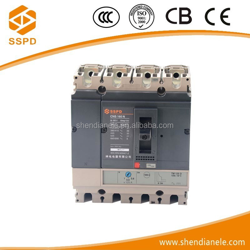 China brand HOT SELL mccb CNS 4P 160A current demo breaker