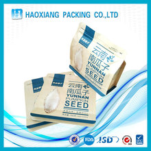 Accept custom logo printing flat bottom paper bag / melon seed packaging