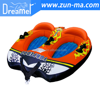 OEM factory of floating water sports inflatable water towable tube and towable water tubes