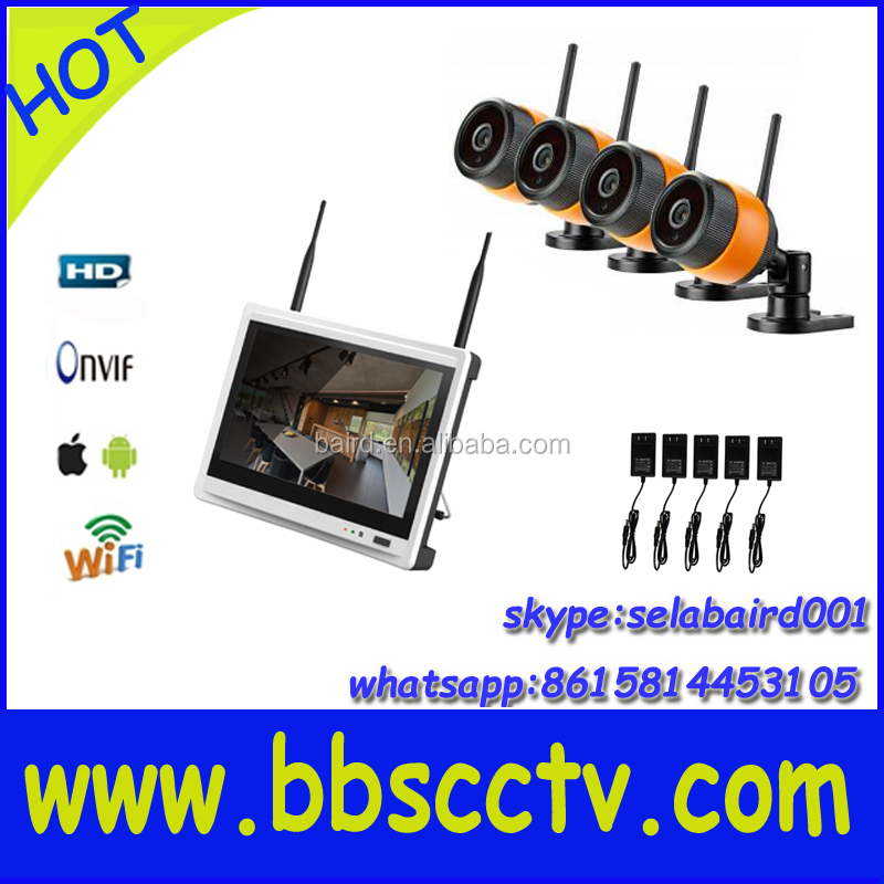 new arrived <strong>12</strong>.5inch lcd monitor 4ch wifi nvr kits cctv kits wireless eseenet app