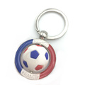 2018 France Souvenir Style Keychain Factory Custom Your Own Dice Spinning Keychain