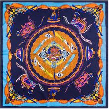 New Arrival Large Shawl Muslim Square Twill Silk Scarf