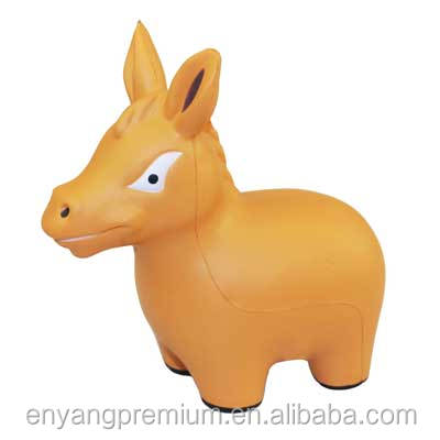Donkey Anti Stress Toys Promotion Gift PU Stress reliever ball