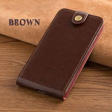 Card slot genuine leather case for Xiaomi redmi note 4 pro vertical button flip phone accessories cover