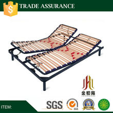 Adjustable steel bed frame in double size