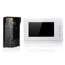 "XSL-V70F-IDP wired video doorbell 7"" LCD color screens and infrared camera with digital pane for improve the home security"