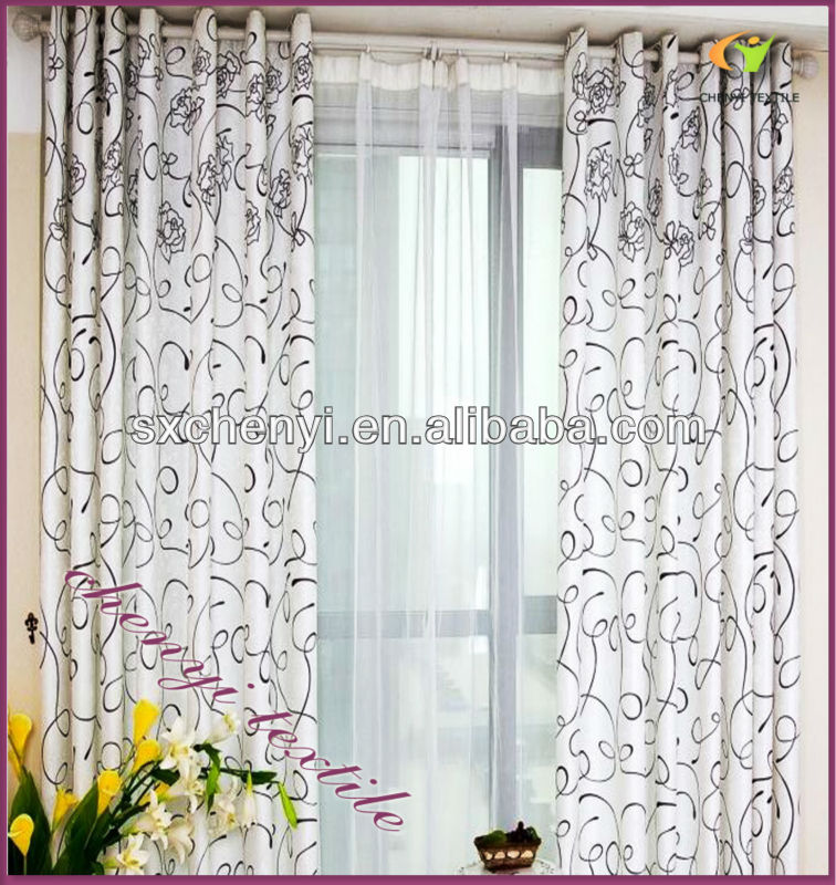new floral printing curtain of beautiful design curtain/fabric new desigh in 2013