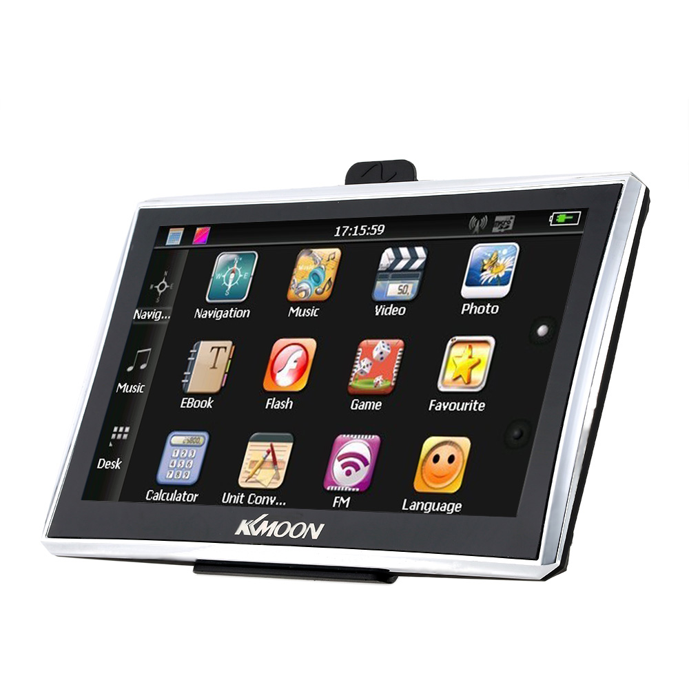 "KKMOON 7"" HD Touch Screen Portable GPS Navigator 128MB RAM 4GB ROM Car Entertainment System with Free Map K3156-1"