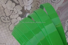 Glossy home decor 2mm green pvc edge banding for furniture accessory