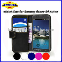 Hot selling Wallet Leather Case for Samsung Galaxy S4 Active i9295, Hot Sale Case