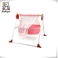 Sweet Lace Folding Baby Swing Cradle with Bed Net