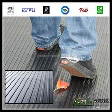 China Produced Cheap fluted non-slip rubber matting