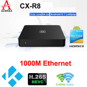 CX-R8 android 64Bit RK3368 Octa core TV BOX 4Kx 2K H265 HDM I 2.0 UTRAL HD 2.4G 5G BT android 5.1 android L OS TV BOX