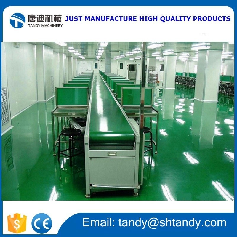 Shanghai pu belt conveyor for candy packaging line