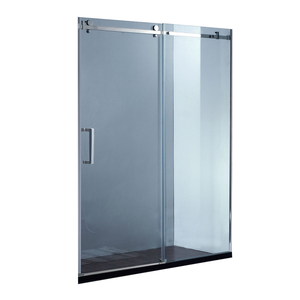 Hot selling frameless glass sliding shower door
