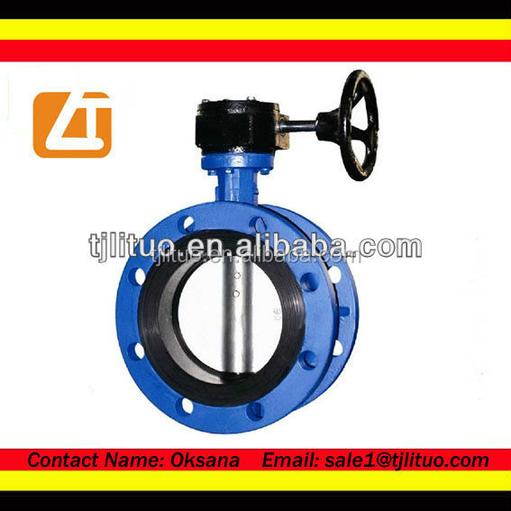 double flange cast iron butterfly valves dn250